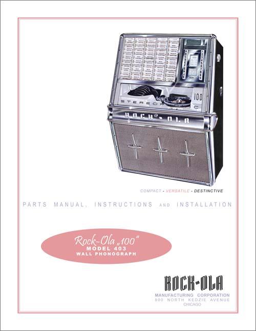 Stamann Musikboxen Amp Jukebox World Service Manual 403