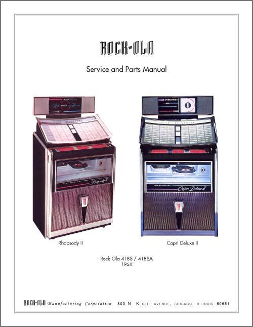 stamann musikboxen jukebox world service manual rock ola 418 and rh jukebox world de Rock Ola Nostalgic Bubbler 1960 Rock Ola Jukebox 1961