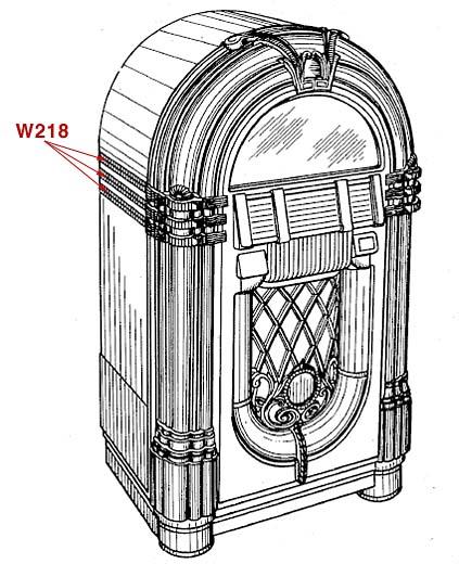 Stamann Musikboxen & Jukebox-World | Mirror set Wurlitzer