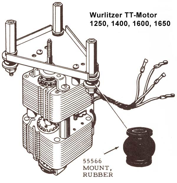 Stamann Musikboxen & Jukebox-World   Rubber motor mount   Jukebox