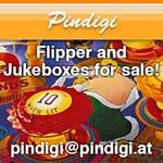 Pindigi - Flipper und Musikboxen